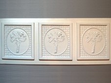 Crown Molding - Palm Tree Pattern (HIPS)